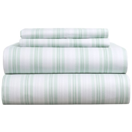 EnVogue Kourtney Stripe Sheet Set - Full in Seafoam