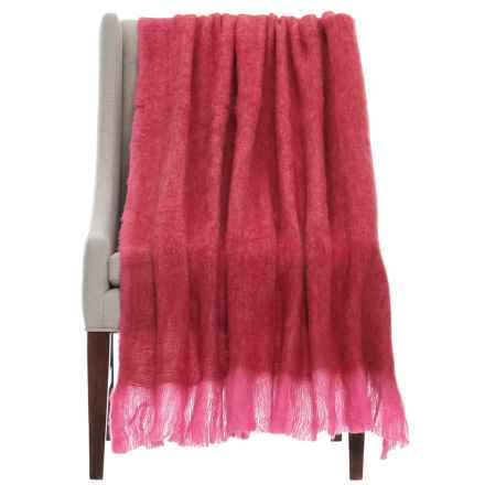 "EnVogue Mohair Throw Blanket - 50x60"" in Red - Closeouts"