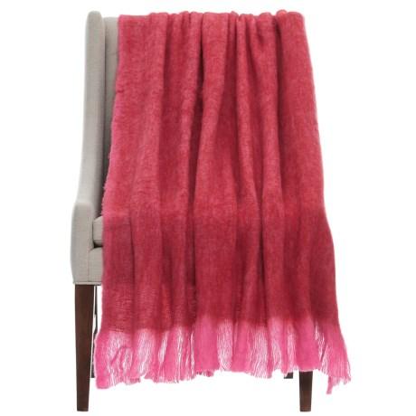 """EnVogue Mohair Throw Blanket - 50x60"""" in Red"""