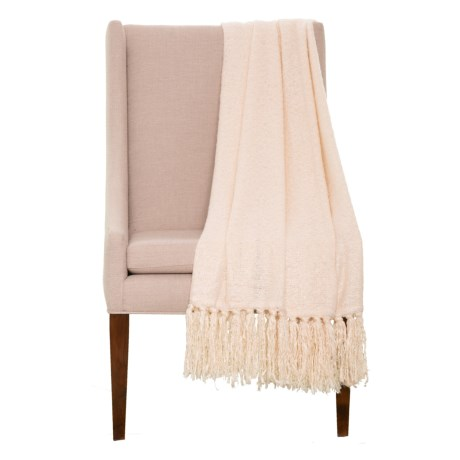 """EnVogue Molly Throw Blanket - 50x60"""" in Ivory"""