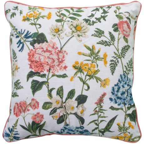 """EnVogue Monclaire Floral Throw Pillow - 20x20"""", Feathers in Multi"""
