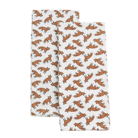 EnVogue Pets Kitchen Towel - Set of 2 in Dotted Fox