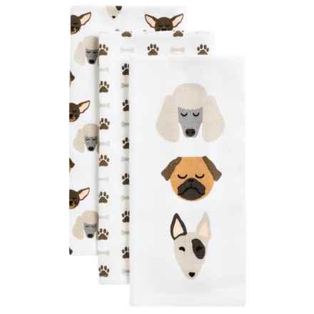 Envogue Pets Kitchen Towel - Set of 3 in Good Boy Neutral - Closeouts