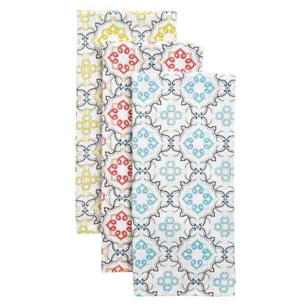 Envogue Printed Kitchen Towels - Set of 3 in Multi - Overstock