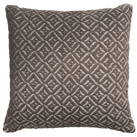 """EnVogue Randall Print Woven Outdoor Throw Pillow - 20x20"""" in Grey"""