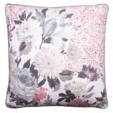 """EnVogue Ravela Cotton Slub Large Floral Decor Pillow - 20x20"""", Duck Feathers"""