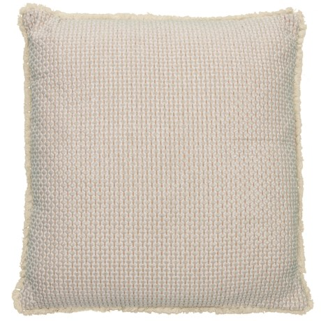 "EnVogue Riva Chenille Throw Pillow - 22x22"", Feathers in Gold"