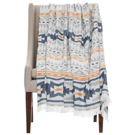 "EnVogue Southwest Woven Throw Blanket - 50x60"" in Navy - Closeouts"