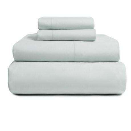 EnVogue Suffolk Washed Cotton Percale Sheet Set - Queen, 200 TC