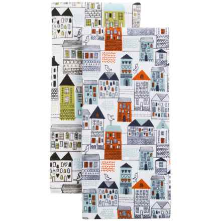 Envogue Terry Kitchen Towels - Set of 2 in Neighborhood Multi - Closeouts