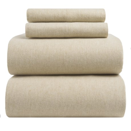 EnVogue Yarn-Dyed Flannel Sheet Set - Full, 200 TC in Chambrey