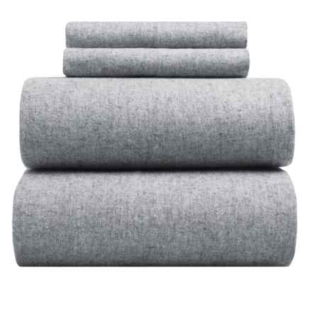 EnVogue Yarn-Dyed Flannel Sheet Set - Full, 200 TC in Light Grey - Closeouts