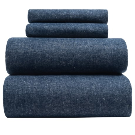 Envogue Yarn-dyed Flannel Sheet Set Queen, 200 Tc
