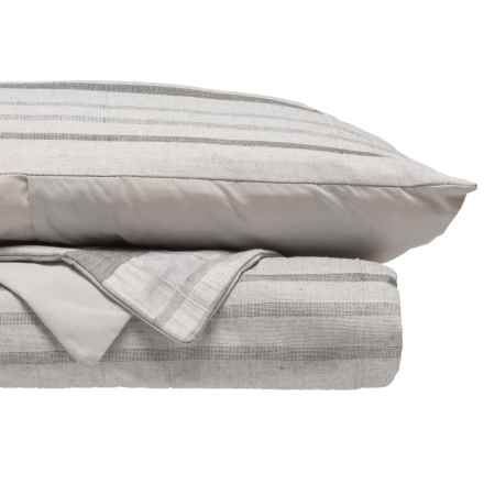 EnVogue Zima Yarn-Dyed Jacquard Duvet Set - King in Grey - Closeouts