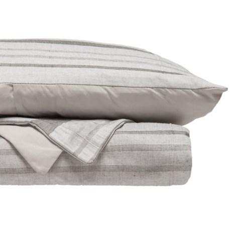 EnVogue Zima Yarn-Dyed Jacquard Duvet Set - Queen in Grey