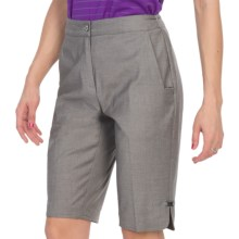 "EP Pro 13"" Stretch Gab Shorts (For Women) in Pearl Grey - Closeouts"