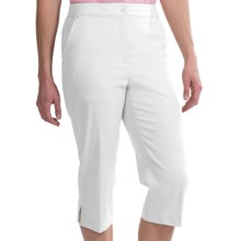 EP Pro Basics Tour Tech Stretch Capris (For Women) in White - 2nds