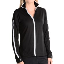 EP Pro Fancy That Polo Shirt - UPF 50+, Long Sleeve (For Women) in Black Multi - Closeouts