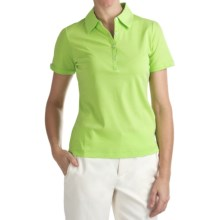 EP Pro Liquid Cotton Jersey Polo Shirt - Short Sleeve (For Women) in Lime - Closeouts
