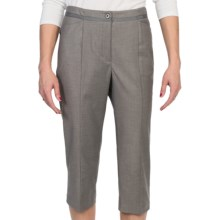 EP Pro Stretch Gab Crop Pants (For Women) in Pearl Grey - Closeouts