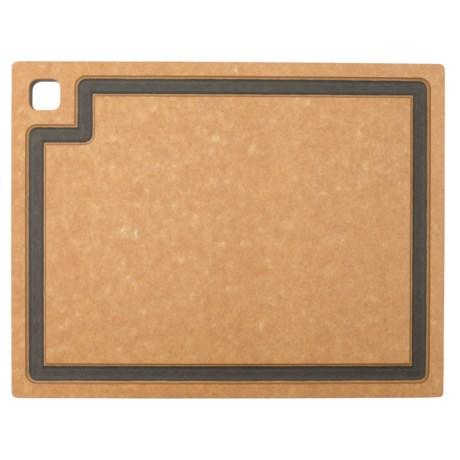 """Epicurean Gourmet Series Cutting Board- 14.5x11.25"""" in Natural/Slate"""