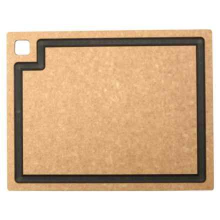 """Epicurean Gourmet Series Cutting Board - 15x11"""" in Natural/Slate - 2nds"""