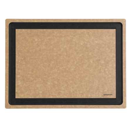 "Epicurean Gourmet Series Grooved Cutting Board  - 17.5x13"" in Natural/Slate Core - 2nds"