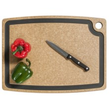 "Epicurean Gourmet Series Grooved Cutting Board - 18x13"" in Natural/Slate Core - 2nds"