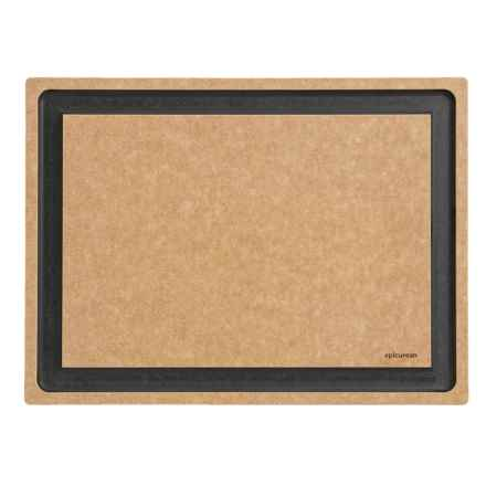 "Epicurean Gourmet Series Grooved Cutting Board - 18x13"" in Natural/Slate - 2nds"