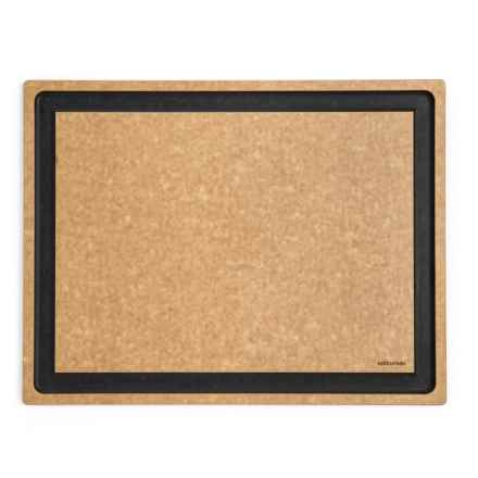 """Epicurean Gourmet Series Grooved Cutting Board - 19.5x15"""" in Natural/Slate Core - 2nds"""