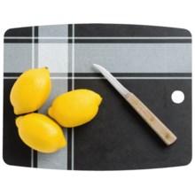 "Epicurean Kitchen Series Cutting Board - 11.5x9"" in Plaid Slate - 2nds"