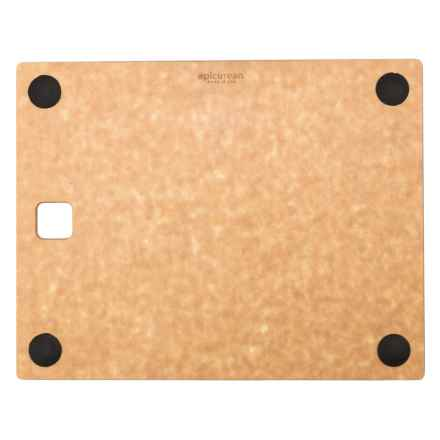 "Epicurean Kitchen Series Cutting Board with Grippers - 11x9"" in Natural/Slate - 2nds"