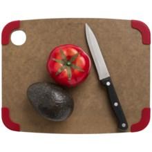 "Epicurean Non-Slip Cutting Board - 12x9"" in Nutmeg/Red - Closeouts"