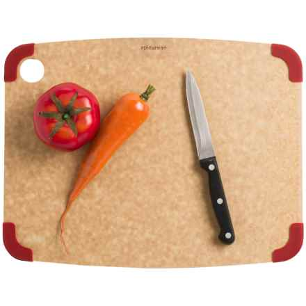 "Epicurean Non-Slip Cutting Board - 15x11"" in Natural/Red - 2nds"