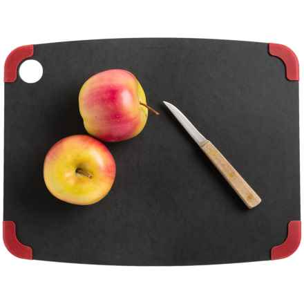 "Epicurean Non-Slip Cutting Board - 15x11"" in Slate/Red - 2nds"