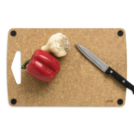 "Epicurean Non-Slip Prep Series Cutting Board - 13x8.5"" in Natural/Black Buttons"