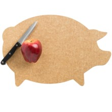 Epicurean Pig Shape Cutting Board in Natural Pig - 2nds