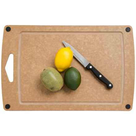 "Epicurean Prep Series Non-Slip Carving Board - 17x11"" in Natural/Black Buttons - Overstock"
