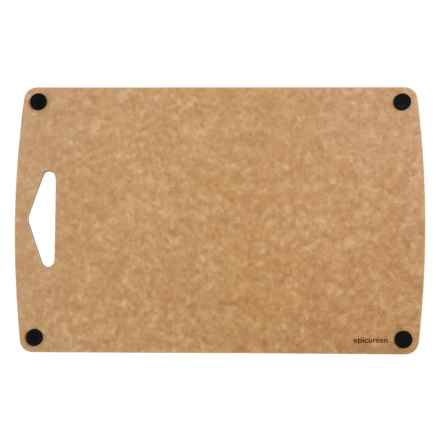 "Epicurean Prep Series Non-Slip Composite Wood Cutting Board - 16x10"" in Natural/Black Buttons - Overstock"