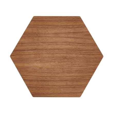 "Epicurean Slate Cut-and-Serve Board - 17x14"" in Walnut/Slate - 2nds"