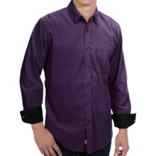 EQ by Equilibrio 21-Wale Corduroy Shirt - Long Sleeve (For Men) in Plum - Closeouts