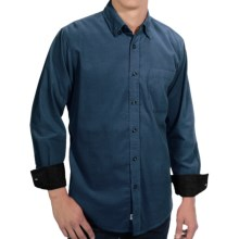 EQ by Equilibrio 21-Wale Corduroy Shirt - Long Sleeve (For Men) in Teal - Closeouts