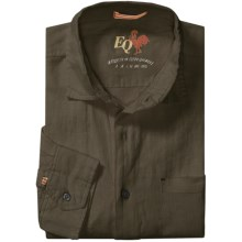 EQ Solid Linen Shirt - Long Sleeve (For Men) in Brown - Closeouts
