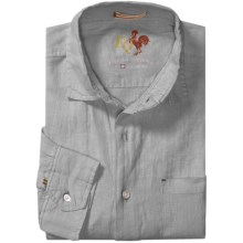 EQ Solid Linen Shirt - Long Sleeve (For Men) in Grey - Closeouts