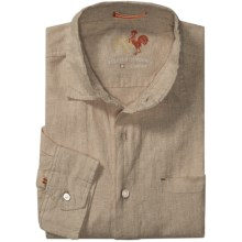 EQ Solid Linen Shirt - Long Sleeve (For Men) in Tan - Closeouts