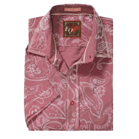 EQ Vintage Bandana Print Shirt - Short Sleeve (For Men) in Red