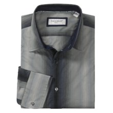 Equilibrio Tonal Stripe Sport Shirt - Long Sleeve (For Men) in Grey - Closeouts