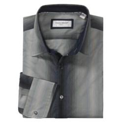 Equilibrio Tonal Stripe Sport Shirt - Long Sleeve (For Men) in Grey