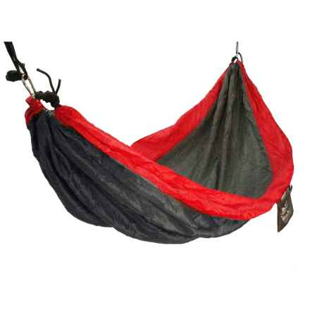 "Equip Travel Hammock - 1-Person, 118x59"" in Tomato Red/Stormy Grey - Closeouts"