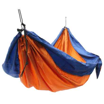 "Equip Travel Hammock - 2-Person, 133x76"" in Clay Orange/Lagoon Blue - Closeouts"